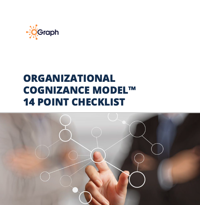 Cover of workbook handout of the 14 checkpoints that make up an Org Graph